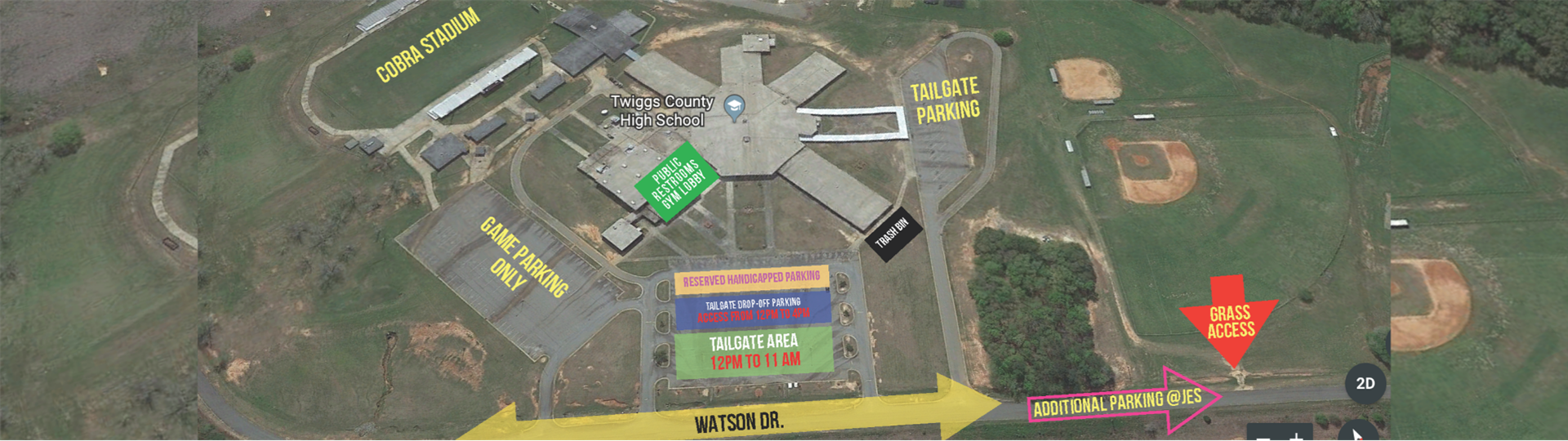 Homecoming 2019 Tailgate Map