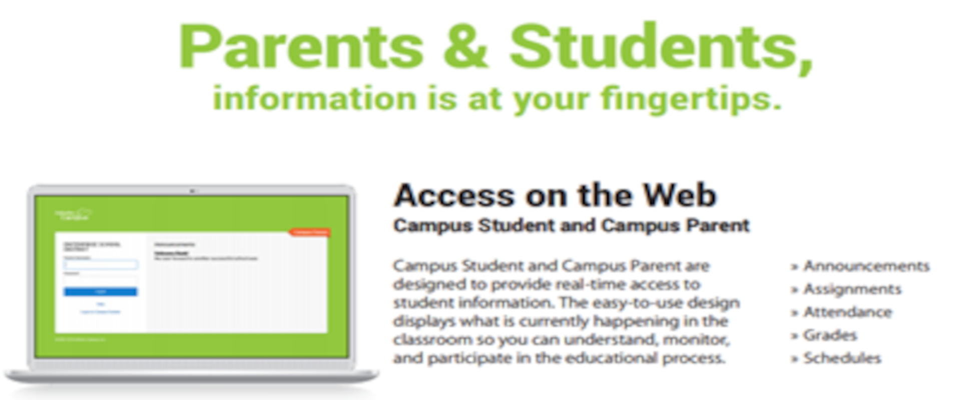 Sign Up For Infinite Campus